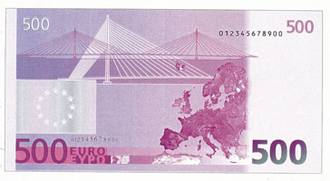 Самый простой способ проверки подлинности купюр евро