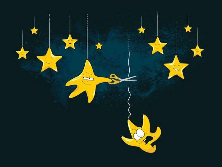 Вот так на самом деле падают звезды