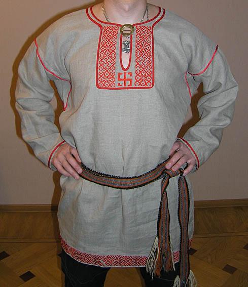 Славянская мужская рубаха