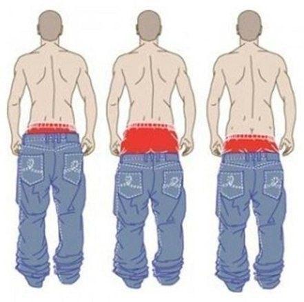 Мода низко носить штаны